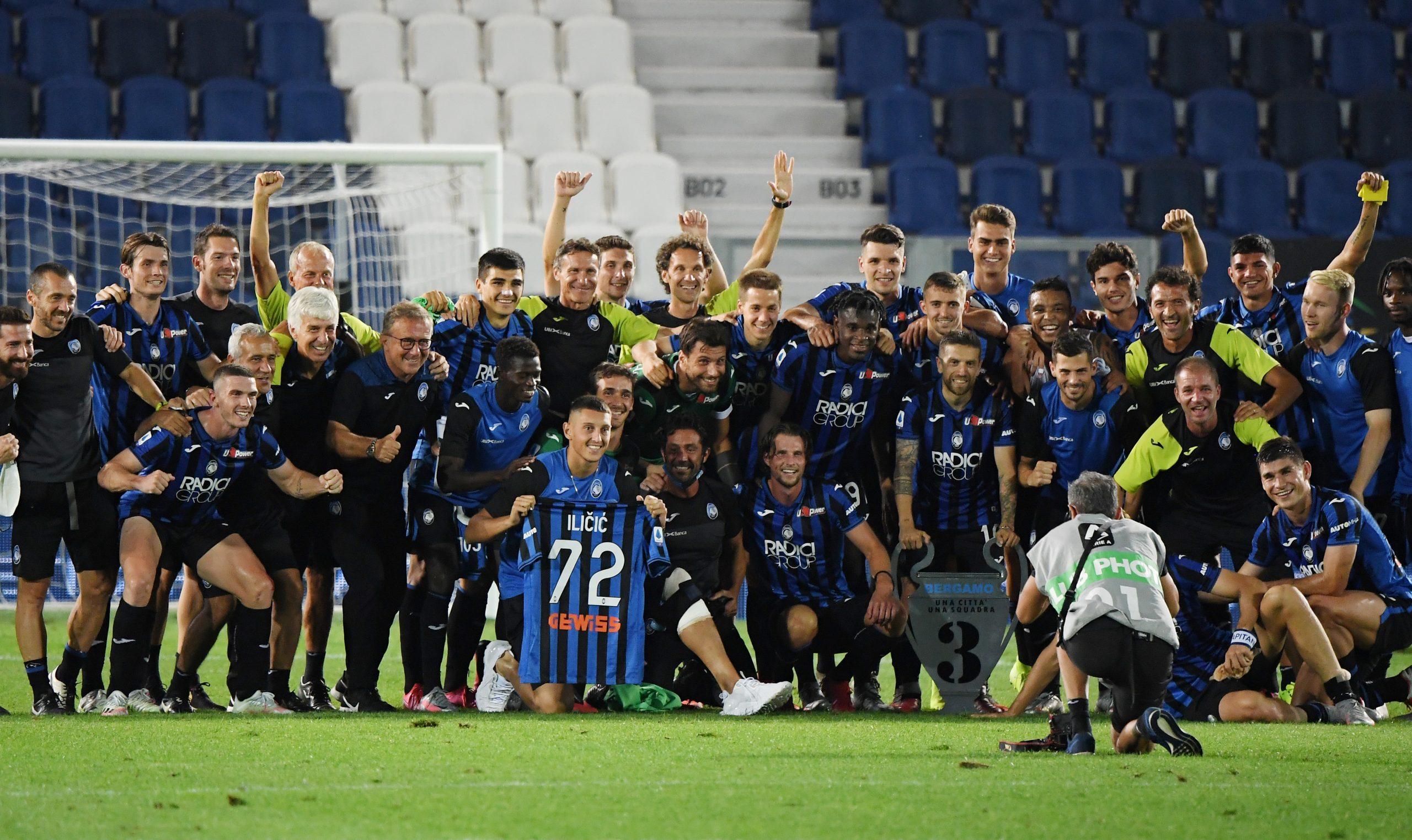 التحدي الشجاع لقب أتالانتا حامل اللواء الإيطالي في ربع النهائي