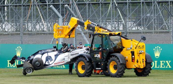 سيارة معطلة في سباق فورمولا ١ ببريطانيا